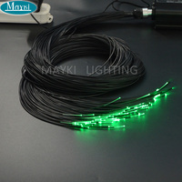 PEOF 1*0.75 Hight brightness color changing PMMA plastic end lighting fiber optic cable for lighting