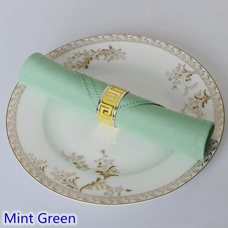 Салфетка монетный двор зеленый цвет равнина полиэстер салфетка для свадьбы отель и ресторан украшение стола морщин и пятноустойчивая