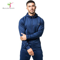 Men Hoodies 2017 Sudaderas Hombre Hip Hop Mens Brand Solid Zipper Hoodie Sweatshirt Slim Fit Men