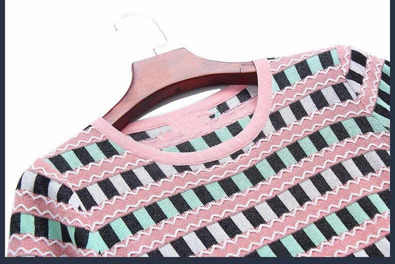 Женские платья с короткими рукавами, трикотажное платье в клеточку, лето 2019