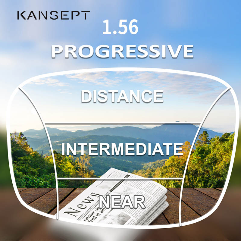 25db68f5e9 BRUCKEN 1,56 índice lentes progresivos de forma libre Multifocal asféricos  resina óptica receta ojo de la marca gafas de lentes