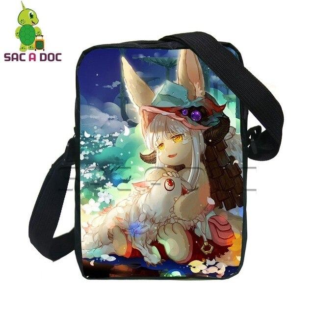 Cute Anime Made In Abyss Reger Crossbody Bag Women Men Mini Messenger Bag  Kids School Bags Boys Girls Crossbody Travel Bag 26f5b595c0dd8