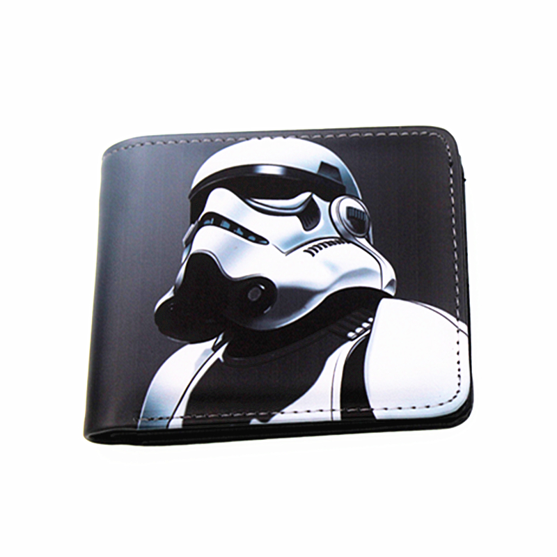 new wallets of Star Wars: Episode IX short long wallet unisex purses stormtrooper portfel carteiras phone holders red dragon man wallet game of throne pu purse fire blood logo wallets portal game short money carteiras portfel