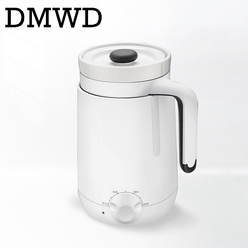 DMWD Mini Health Preserving Pots Household Electric Kettle ceramics water Heating Cup milk heating porridge cup Slow stew cooker dmwd electric kettle eggs slow cooker teapot multifunction porridge stew pot hot water boiler timing milk heater 1 8l 110v 220v