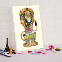 modular picture abstract oil paintings animals cat lion dog digital paint by numbers
