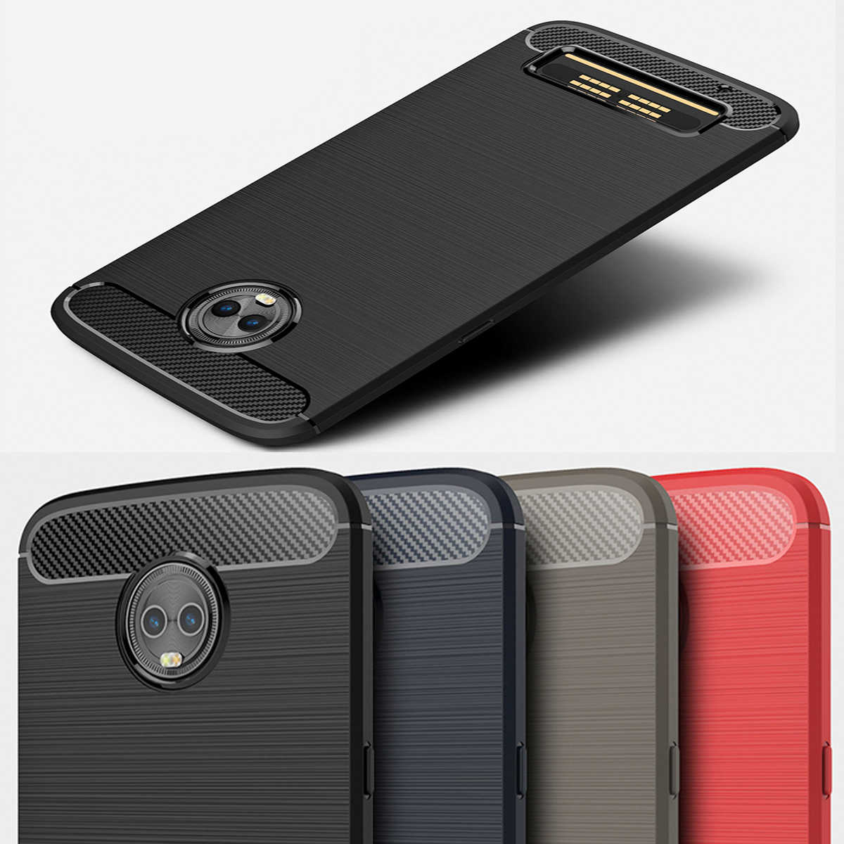 Voor Motorola Moto Z3 Play Case Cover Voor Moto Een Power Vision Action Zoom X4 2017 Z2 Kracht E6 P40 g7 G6 E5 Play Plus Power Capa