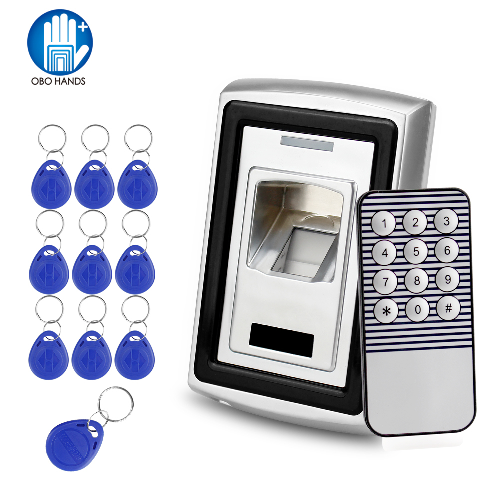 RFID Standalone Metal Fingerprint Scanner Biometric Identification 125KHz Electric Lock With 10 Keys For Access Control System fs28 biometric fingerprint access control machine electric reader scanner sensor code system for door lock