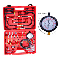 TU 443 Multifunction Fuel System Pressure Gauge 0~140 PSI Fuel Pressure Gauge Tester Tool Kit Fuel Injection Pump Tester