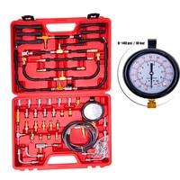TU 443 Multifunction Fuel System Pressure Gauge 0~140 PSI Fuel Pressure Gauge Tester Tool Kit Fuel Injection Pump Tester