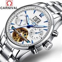Mens Watches Top Brand Luxury Carnival 2016 Men Watch Sport Tourbillon Automatic Mechanical Stainless Steel Wristwatch