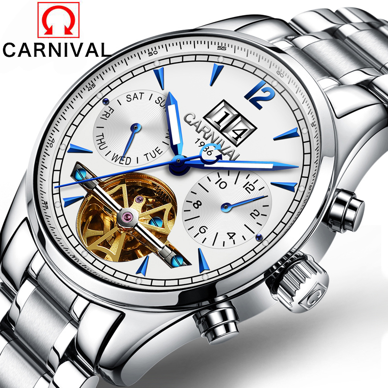 Mens Watches Top Brand Luxury Carnival 2016 Men Watch Sport Tourbillon Automatic Mechanical stainless steel Wristwatch relogio mens watches top brand luxury holuns 2017 men watch sport tourbillon automatic mechanical stainless steel wristwatch relogio mas
