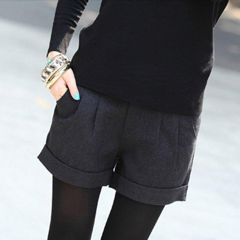 oioninos Autumn Winter Fashion   Shorts   Femininos Solid Slim Casual Woolen Warm Women   Shorts   K3