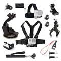 Go pro accesorios kit pecho head mount monopod para gopro hero 5 4 sjcam sj4000 sport cam coche de aspiración de montaje adaptador j montaje 10