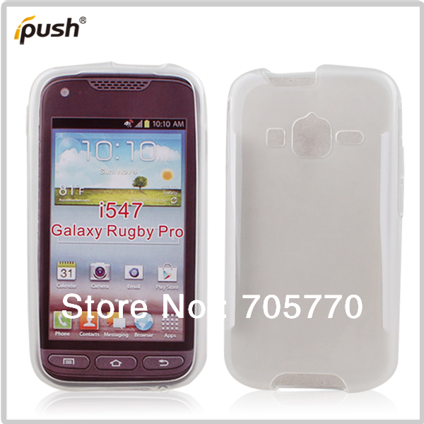 For Samsung I547 Galaxy Rugby Pro Soft Gel Tpu Protective Back S Mobile Phone Case Skin