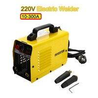 New 220V 10 300A 25KVA Handheld Mini MMA IGBT Inverter Mini Electric IGBT MMA ARC ZX7 Welding Welder Machine Tool