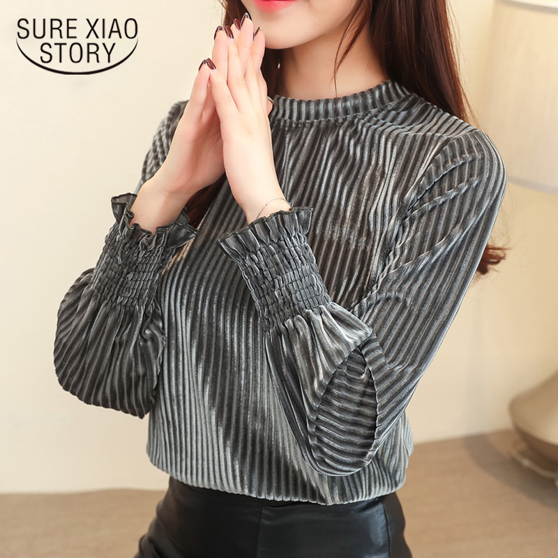 2019 Autumn Winter New Women's Wear Long Sleeves High -neck Lady Clothes Fashion Atmosphere Women Clothing 1595 50