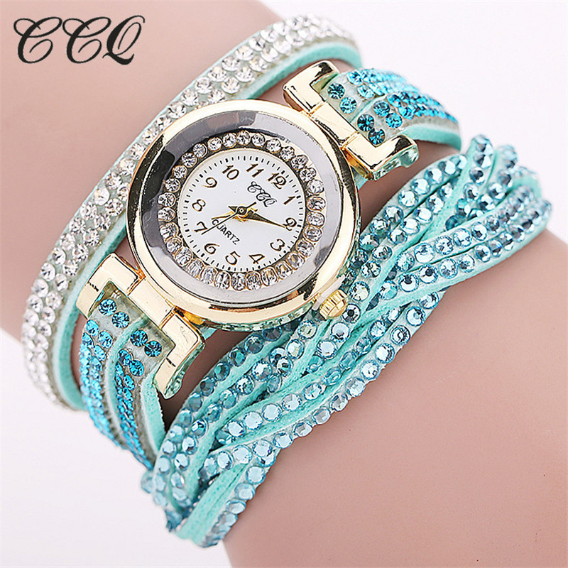 Fashion Casual Quartz Women - Watch Braided Leather Bracelet Watch Gift 2