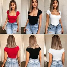 Romper Bodysuit 2019 Summer Womens Sexy Slim Fit Comfortable Solid Casual Jumpsuit Ladies Evening Party Playsuit