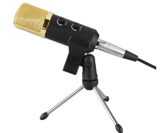 купить MK -F100TL Wired Microphone USB Condenser Sound Recording Mic with Stand for Chatting Singing Karaoke  Laptop Skype недорого