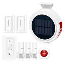 KOOCHUWAH GSM Alarm Solar Powered Wireless Siren Alarm with Magnet Clothing PIR Detector Infrared Alarm Auto SMS Security System все цены