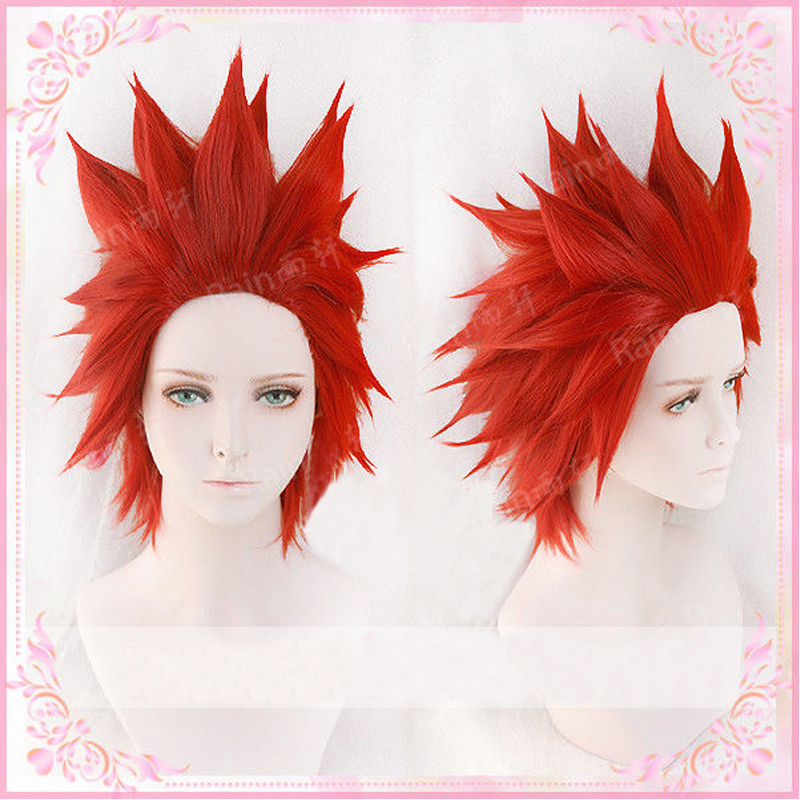My Hero Academia Boku no Hiro Akademia Eijirou Kirishima Eijiro Short Red Hair Cosplay Anime Wig ( need Your styled) + Wig Cap