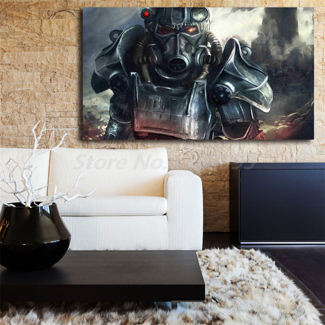 US $6 0 |Awesome Fallout 4 Background Wallpapers Canvas Painting Print  Living Room Home Decor Modern Wall Art Oil Painting Poster Artwork-in  Painting