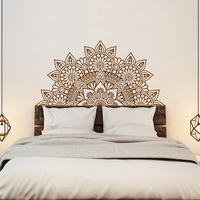 New Arrival India Buddha God OM Symnol Art Namaste Mandala Yoga Lotus Wall Sticker Meditation Vinyl Interio Bed Room Home Decor