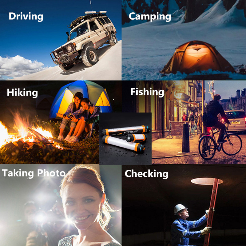 USB Waterproof Led Camping light Rechargeable Magnetic Hiking Tent Walking Working Fishing SOS Flashlight in Portable Lanterns from Lights Lighting