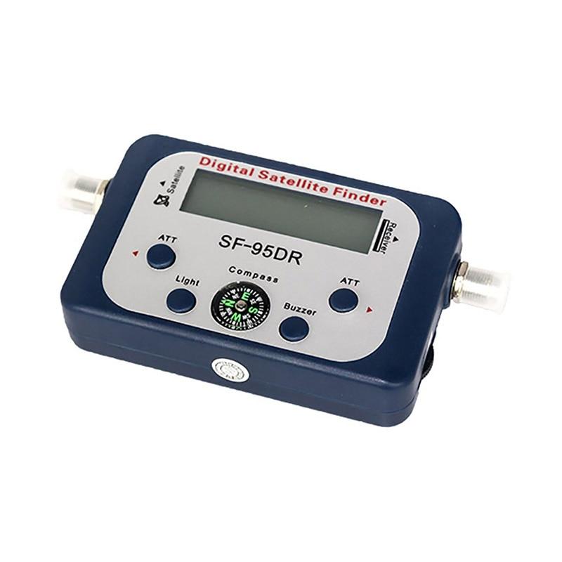 Digital Satellite Finder Signal Meter SF-95DR Meter Satlink Receptor TV Signal Receiver Decoder DVB-T2 Satfinder receptor FTA