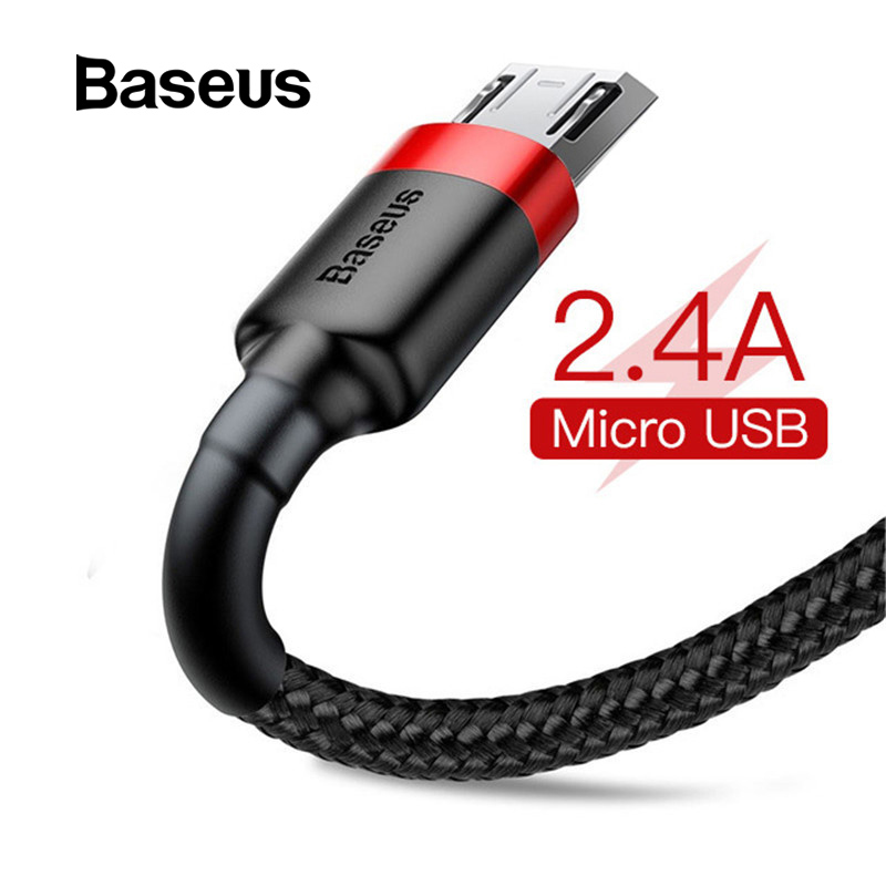 Smart Essager Led Micro Usb Cable For Samsung Xiaomi Android 2.4a Fast Charging Data Cable Microusb Charger Cord Mobile Phone Cables Mobile Phone Cables