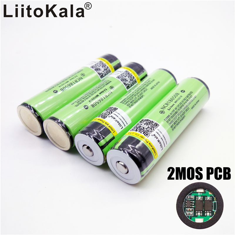 New 2017 Original LiitoKala for Panason18650 3400mah 18650 NCR18650B Rechargeable Li ion battery 3400mAh With