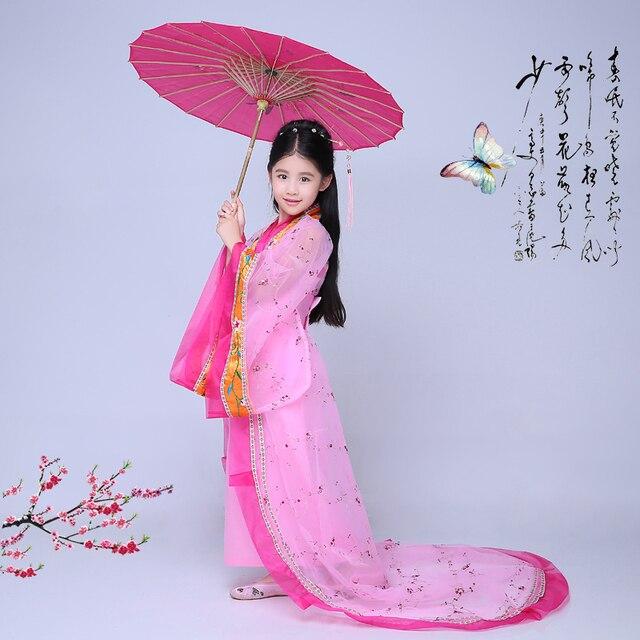Chino Tradicional Cabritos de Las Muchachas del Vestido de Vestidos de Baile de Hadas Hanfu Traje Chino Hanfu Dinastía Tang Ropa Traje Antiguo
