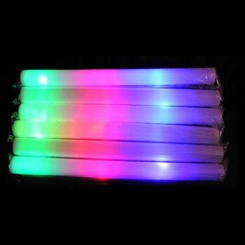 100 Adet/grup Renkli Köpük Sopa LED Parlak çubuk Kolye Floresan Kızdırma Ralli Rave Tezahürat Tüp Baton Wands Parti Festivali Işık Çubuğu