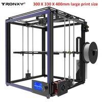 Tronxy X5S 3D принтеры 330*330*400 мм с высокой точностью алюминиевый профиль рамы комплект ЖК дисплей Экран большой область печати
