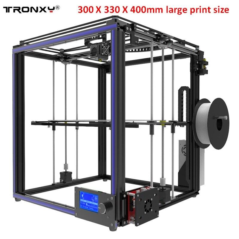 купить Tronxy X5S 3D Printer 330*330*400mm High-precision Aluminum Profile Frame Kit LCD Screen Big Print Area по цене 21370.25 рублей
