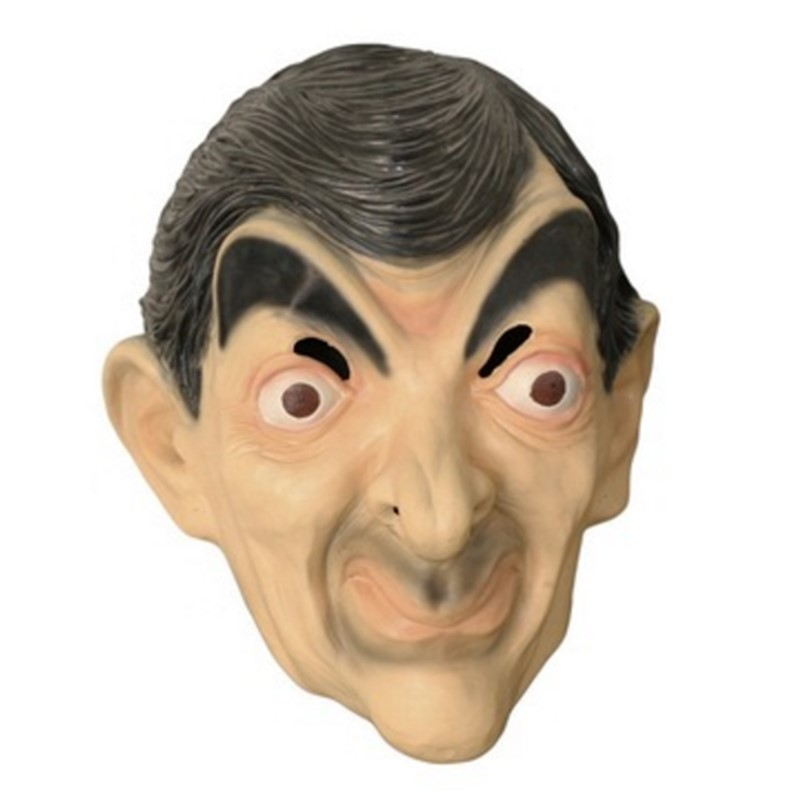 Halloween <font><b>Costume</b></font> Latex Full Head Celebrity Cosplay <font><b>Mr</b></font> <font><b>Bean</b></font> Mask image