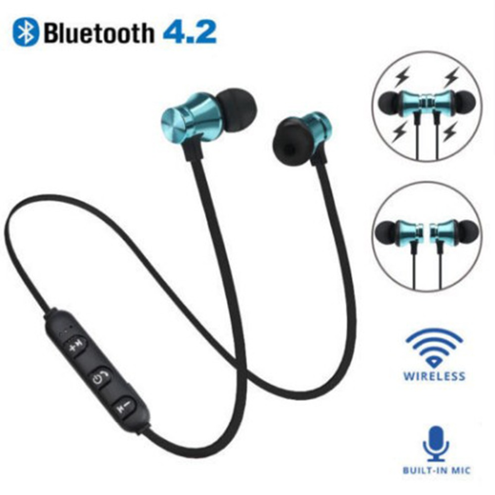 Special Section Wireless Sports Bluetooth Headset Black Gun Color 4.1 Stereo Headset Wireless Magnetic In-ear Earphone Sports Fitness Headset Earphones & Headphones Bluetooth Earphones & Headphones