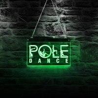 Сексуальная танцовщица прыжок труба девушки полюс танец Логотип Пользовательский LED неоновая вывеска Скип стальная трубка танец ночной кл...