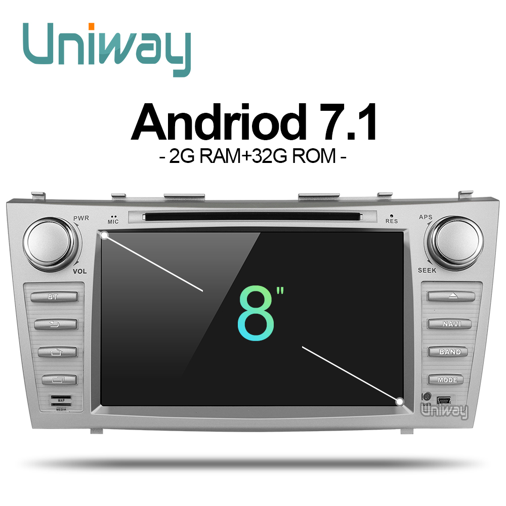 uniway ZKMR8071 2G 32G 2 din android 7 1 car dvd for toyota camry 2007 2008