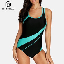Attraco One Piece Women Sports Swimsuit Swimwear Padded Bikini Backless Beach Wear Bathing Suits Monokini