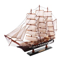 65cm Wooden Sailboat Model Sailing Ship Display Scale Boat Decoration Gift Kits Assembly Model Building Kits Gifts Decoration