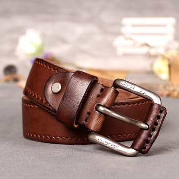 Cowskin Leather strap vintage belt 1