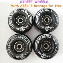 Nuevas ruedas de calle para monopatín, de 4 Uds., de 56mm, 90A, con rodamientos de ABEC 5