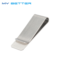 1PC High Quality Stainless Steel Metal Money Clip Fashion Simple Silver Dollar Cash Clamp Holder Wallet for Men Women