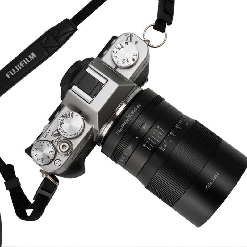 7artisans 60 мм F2. 8 Объектив 1:1 увеличение макрообъектив для Canon EOSM EOSR E Fujifilm M43 Nikon Z крепление sony Olympus Lentes