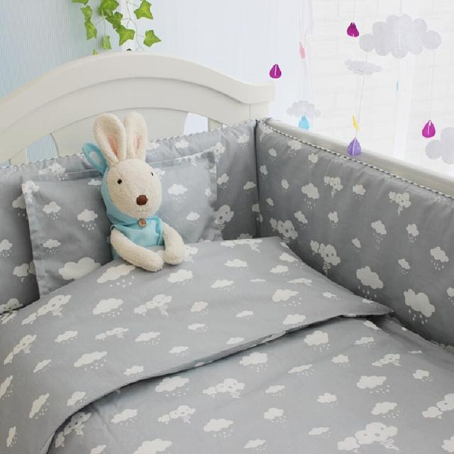 New Arrivel Clouds Newborn Baby Cot Bedding,Comfortable Baby Boy Crib Bedding Set,Baby Bed Liner Cot Bumper,Crib Mattress Quilt