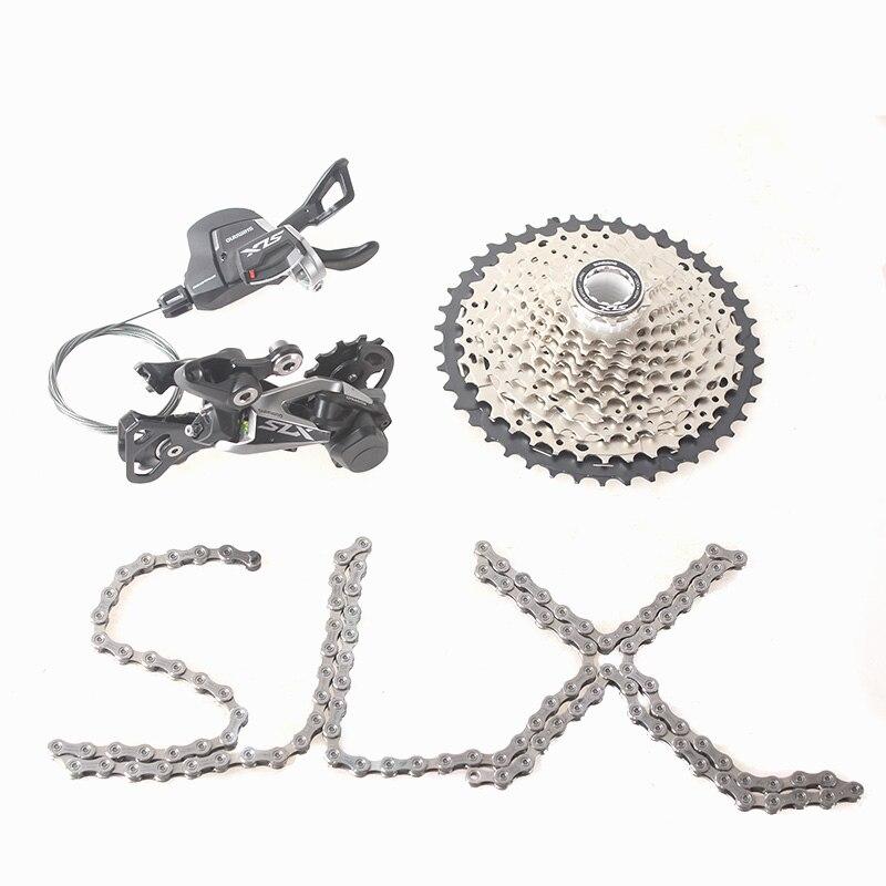 SHIMANO SLX M7000 1x11 11S Speed 11-42T 11-46T Groupset Contains Shift Lever & Rear Dearilleur & Cassette & Chain shimano slx m7000 1x11 11s speed 11 42t 11 46t groupset contains shift lever