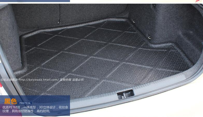 BOOT MAT REAR TRUNK LINER CARGO FLOOR TRAY CARPET Accessories FIT FOR 2013 2014 2015 SKODA OCTAVIA 5E Car styling custom fit car trunk mat for cadillac ats cts xts srx sls escalade 3d car styling all weather tray carpet cargo liner waterproof
