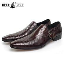 Italian Fashion Mens Dress Shoes Genuine Leather Black Brown Wedding Male Shoes 2019 Slip On Buckle Design Large Size Footwear цены онлайн