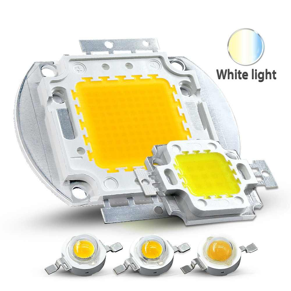 Hontiey High Power LED Chip Warm Pure Cold White Lighting Beads 1W 3W 5W 10W 20W 30W 50W 100W Integrated Matrix Bulb COB Lamp